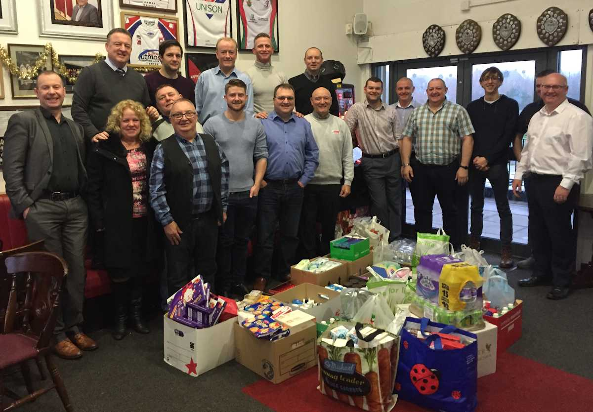 Horizon group collection for the St Helens Food Bank